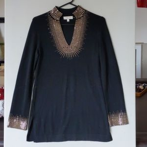 Tory Burch! Sweater with copper embellishments.